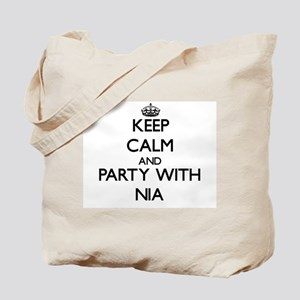 Keep Calm and Party with Nia Tote Bag