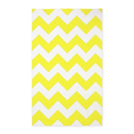 Yellow Chevron Pattern 3'X5' Area Rug