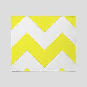 Yellow Chevron Pattern Throw Blanket