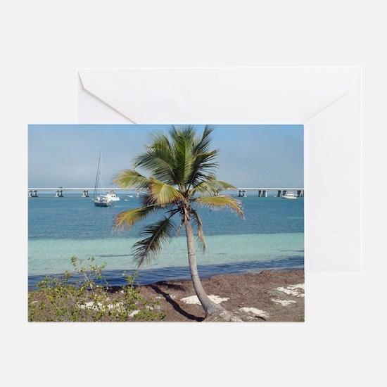 Bahia Honda State Park Palm Tree Flo Greeting Card