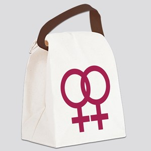 lesbian_signs_1c Canvas Lunch Bag