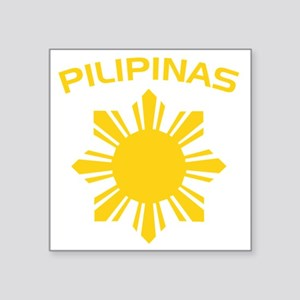 "philipines2 Square Sticker 3"" x 3"""