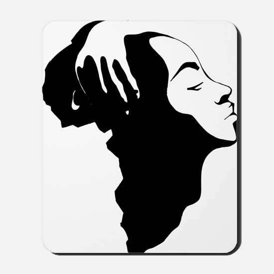 Africa and Woman Mousepad