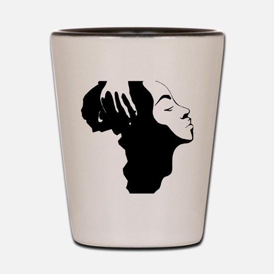 Africa and Woman Shot Glass