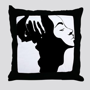 Africa and Woman Throw Pillow