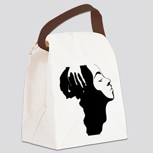 Africa and Woman Canvas Lunch Bag