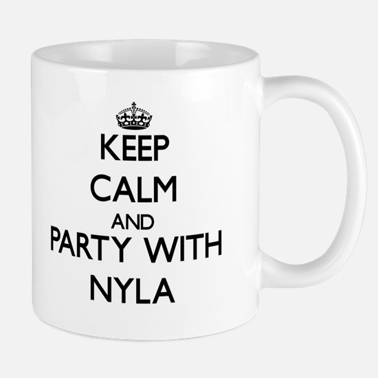 Keep Calm and Party with Nyla Mugs