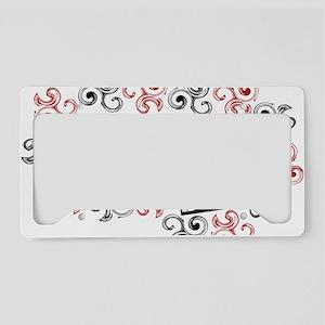 happy valentine's day twirls License Plate Holder