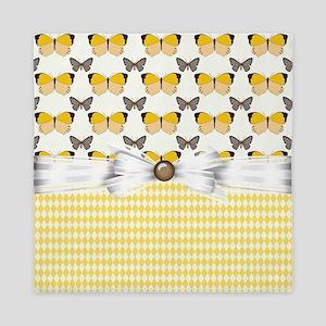 Yellow Sunshine Butterflies Queen Duvet