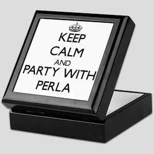 Keep Calm and Party with Perla Keepsake Box