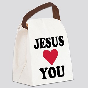 jesus_loves_you Canvas Lunch Bag
