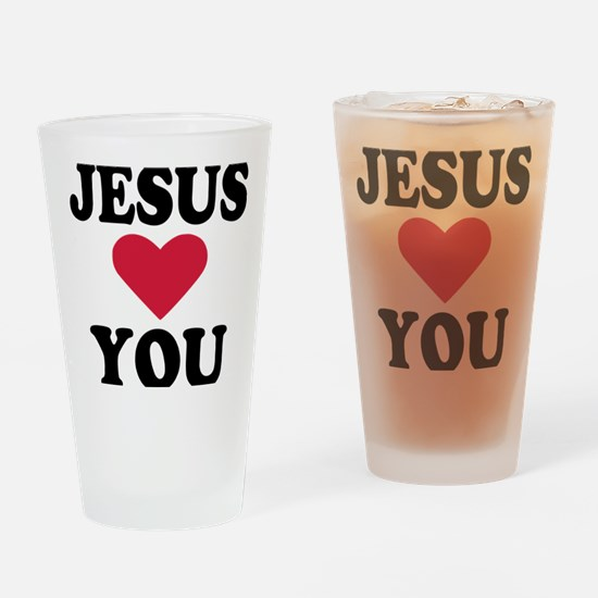 jesus_loves_you Drinking Glass