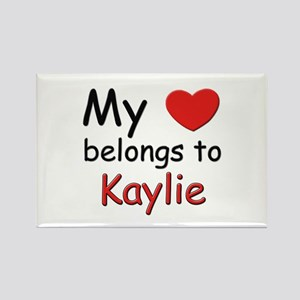 My heart belongs to kaylie Rectangle Magnet