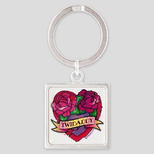Twilight Twidaddy Tattoo Heart Square Keychain