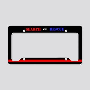 Firefighter Search And Rescue License Plate Holder