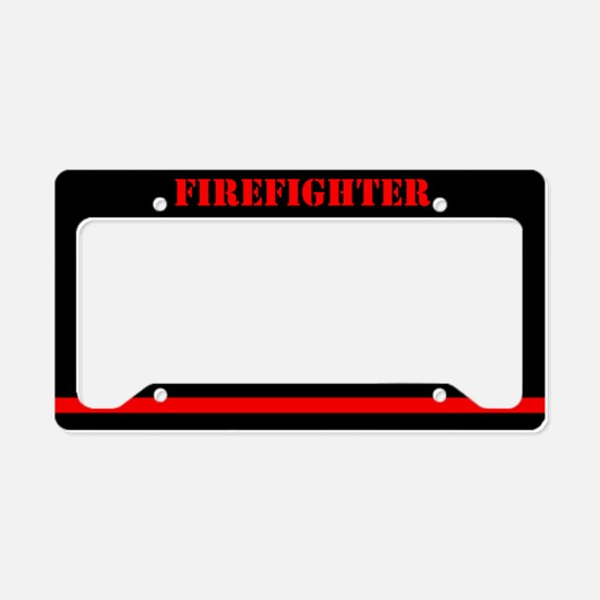 Firefighter License Plate Holder