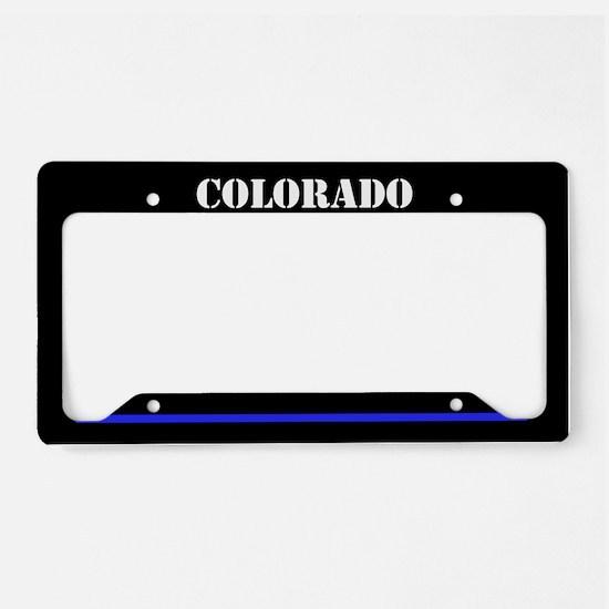 Colorado Police License Plate Holder