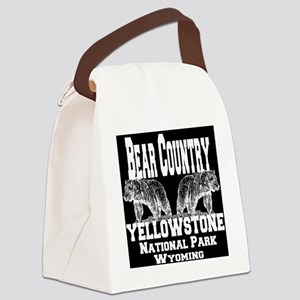 bearcountry_yellowstonenp_invert Canvas Lunch Bag