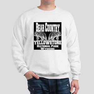 bearcountry_yellowstonenp_invert Sweatshirt
