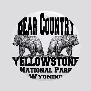 bearcountry_yellowstonenp Round Ornament