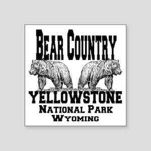 "bearcountry_yellowstonenp Square Sticker 3"" x 3"""