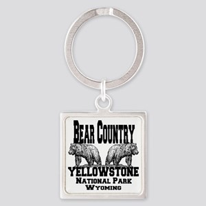 bearcountry_yellowstonenp Square Keychain