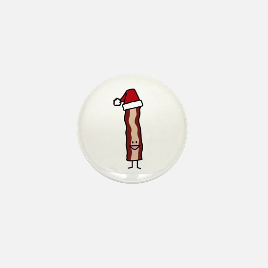 Christmas Bacon Mini Button