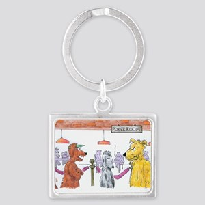 Poker Playing Dogs Landscape Keychain