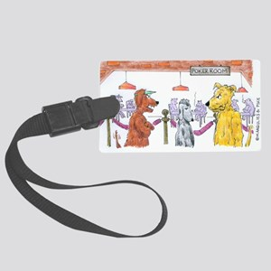 Poker Playing Dogs Large Luggage Tag