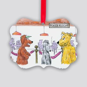 Poker Playing Dogs Picture Ornament