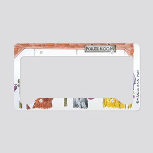 Poker Playing Dogs License Plate Holder