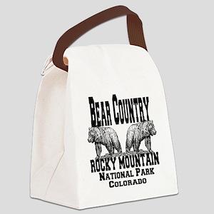 bearcountry_rockymountainnp_color Canvas Lunch Bag