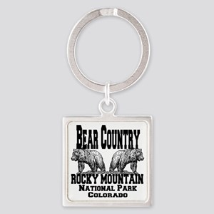 bearcountry_rockymountainnp_colora Square Keychain