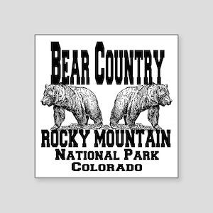 "bearcountry_rockymountainnp Square Sticker 3"" x 3"""