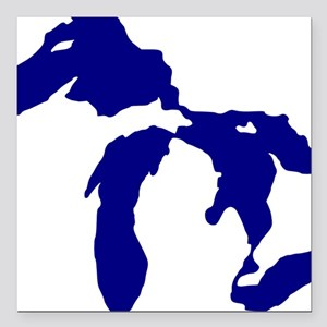 """great_lakes Square Car Magnet 3"""" x 3"""""""