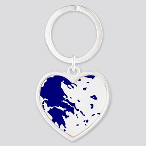 greece_map Heart Keychain