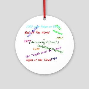 RecoveringFuturist1 Round Ornament