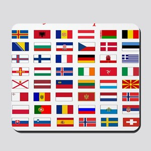 European flags pillow Mousepad