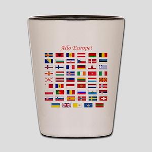 European flags pillow Shot Glass