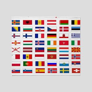 European flags pillow Throw Blanket