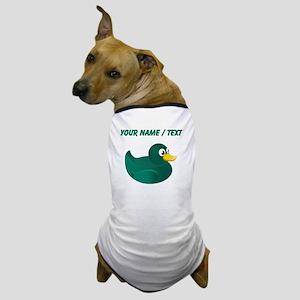 Custom Green Rubber Duck Dog T-Shirt