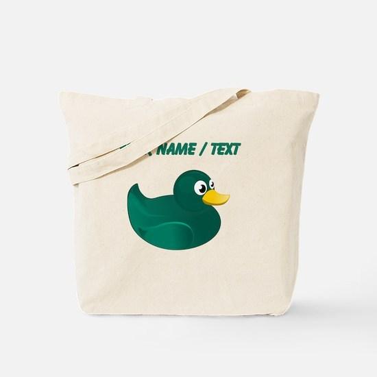 Custom Green Rubber Duck Tote Bag
