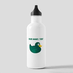 Custom Green Rubber Duck Water Bottle