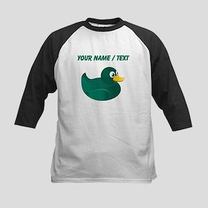Custom Green Rubber Duck Baseball Jersey