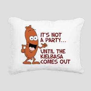 Not A Party Until Kielba Rectangular Canvas Pillow