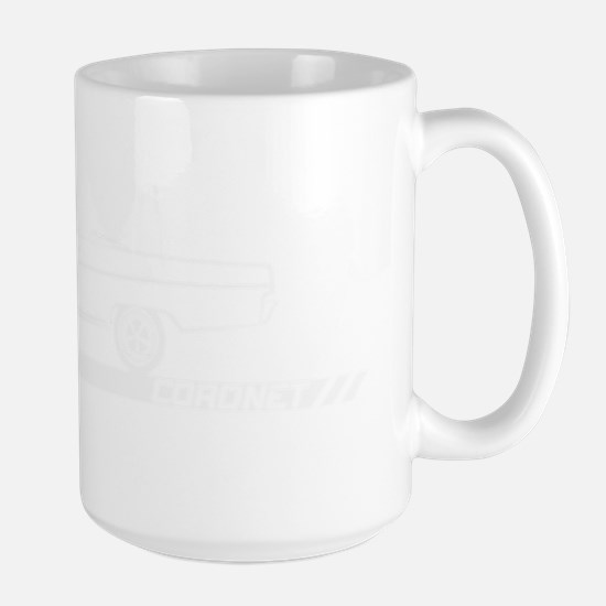 1965-67 Coronet White Convertible Large Mug