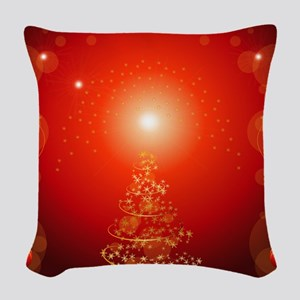Christmas Tree Woven Throw Pillow