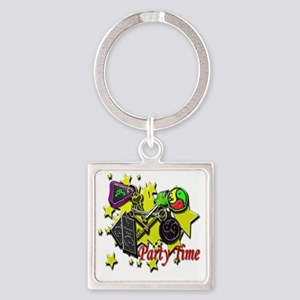 key party sq Square Keychain