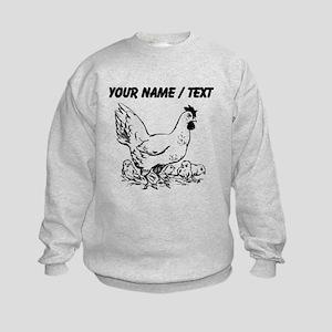Custom Hen Sketch Sweatshirt
