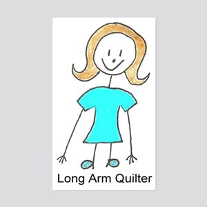 stick quilter w text Sticker (Rectangle)